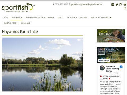 Haywards Farm Lake   Sportfish Game Fishing Centre - Berkshire
