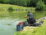 Keith netting a carp on peg 20