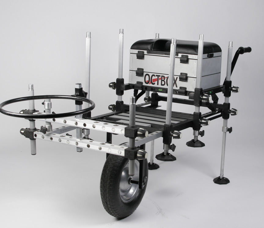 fishing seat box with wheel kit
