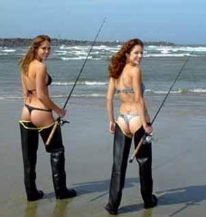 Fishing women naked Beautiful